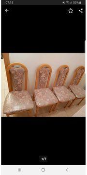 4 stabile Küchen - Esszimmer Stühle