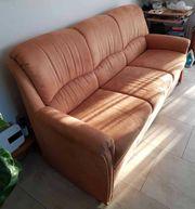 Hochwertige 3-er-Couch 1er-Sessel