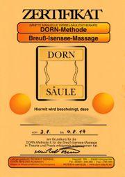 Breuß-Isensee-Massage Wirbelsäulenmassage nach DORN für