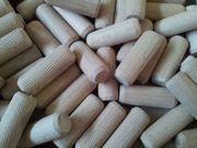 WoodMind Holzdübel Riffeldübel Glattdübel Quelldübel