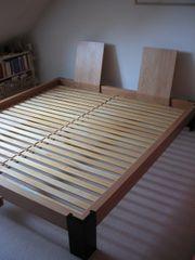 Bett Holzbett metallfrei Doppelbett 210