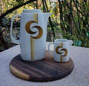 Porzellan 60er 70er Jahre Kaffeekanne
