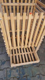Holz-Kartoffel-Kiste mit Öffnung ungebraucht leichte