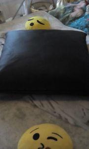 NEU Echtes Leder Kissen mit