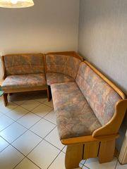 Eckbank mit 2 Stühlen Massiv