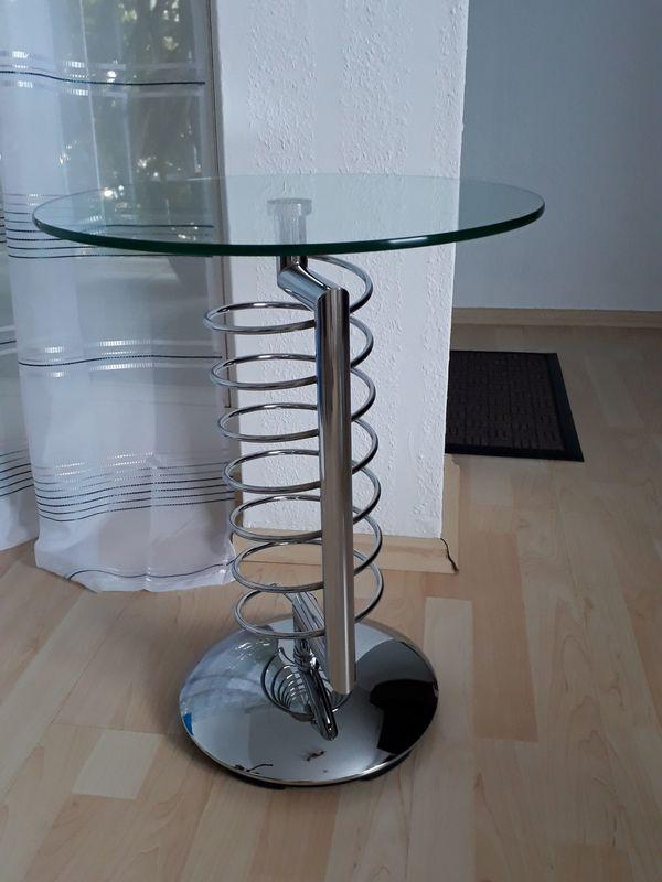 Glastisch Beistelltisch Couchtisch Tisch rund