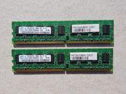 Samsung Arbeitsspeicher RAM 2x1GB 2Rx8