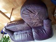 Leder Sofa mit Longchair zu