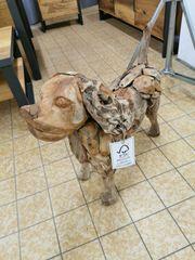 Holzhund Deko