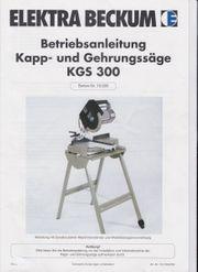 Kapp-Zug-Gehrungssäge KSG300