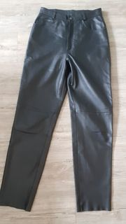Schwarze Lederhose von Yessica in