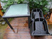 Terrassenmöbel aus Polyratan Neuwertig 3