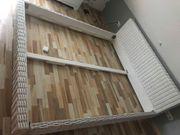 Rattanbett 180 x 200 weiß