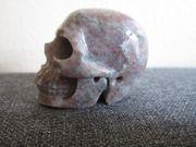 Edelstein Skull - Granat - Kristallschädel - Kunsthandwerk -