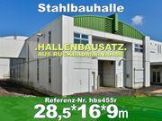Einmalig solide Stahlhalle 28x16x9m zur