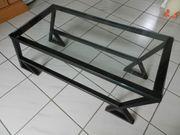 Designer-Glas-Stahl-Couchtisch