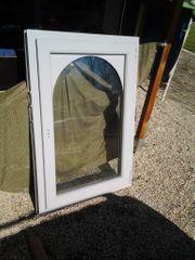Fenster - Kunststoffrahmen grau mit runden