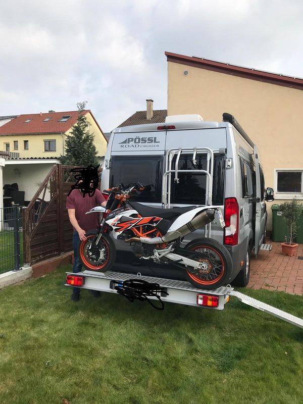 Motorrad Roller Heckträger Bühne Kastenwagen
