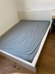 IKEA Malm Bett Weiß 160x200