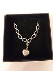 Silberarmband 925 mit Herz-Anhänger