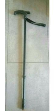 Gehstock höhenverstellbar schwarz mit Schlaufe