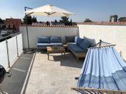 Gartenlounge Sonnenschirm Hängematte