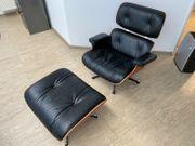 Vitra Lounge Chair Ottoman schwarz