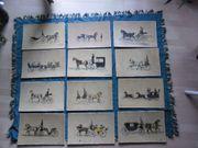 Kunstdrucke Lithographie Pferdekutschen