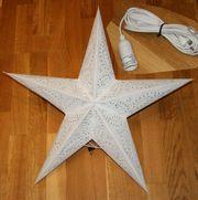 Weihnachtsstern 60cm Anschlußkabel Schalter Hängeöse