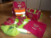 11 Teil Scout Schulranzen Set-Pink