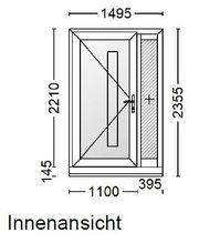 Hauseingangstür mit Seitenteil günstig zu