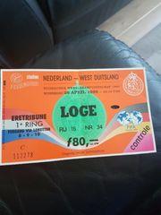 programm und ticket Niederlande - West