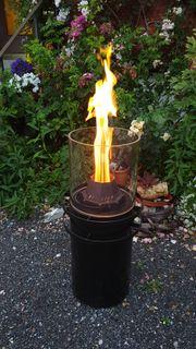 Terrassenfeuer Feuerschale Pelettfeuer Outdoor Feuerstelle