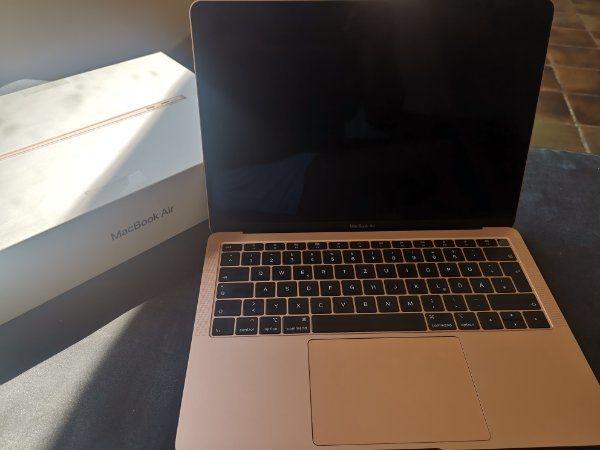 Macbook air in rose gold