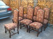 7 Ritterstühle Tafelstühle Polsterstühle Hochlehner