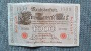 Geldscheine 1910 - 1933
