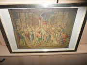 Christliches Bild mit Goldrahmen