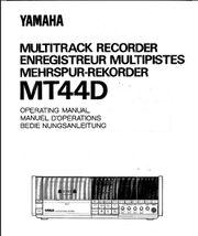 YAMAHA Multitrack MT44D Bedien-Anleitung User-Guide