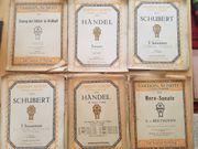 6 Alte Notenblätter für Violine
