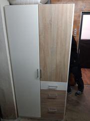 Kleiderschrank 2 Türen 3 Schubladen