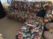 3er Ektorp Sofa mit Hocker