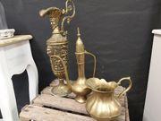 antik Vase Krug Messing