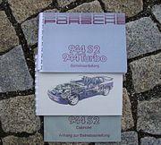 Betriebsanleitung Porsche 944 3 0