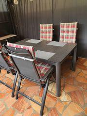 Kettler Gartentischgruppe Tisch Stühle Auflagen