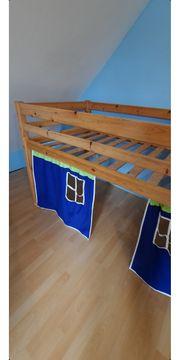 Kinder Hochbett aus Kiefer 200x90