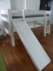 Kinder-Abenteuerbett mit Rutsche Leiter