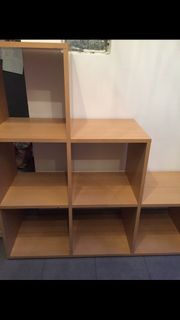 Stufenregal Raumteiler Treppenregal
