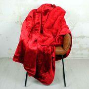 Rote Sofadecke Decke supersoft 150x200