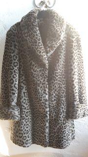 Damen Kurzmantel Kunstfell Leopard by