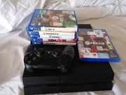 Playstation 4 mit Spielen